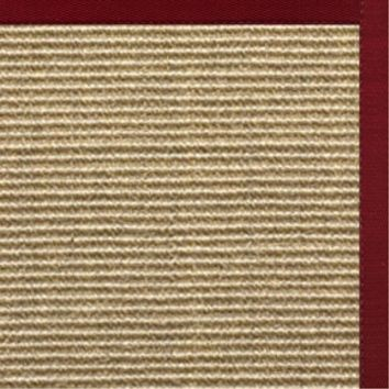 Sustainable Lifestyles Spice Sisal Rug with Cardinal Red Cotton Border