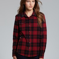 PJK Patterson J. Kincaid Shirt - Flint Embellished Flannel | Bloomingdale's