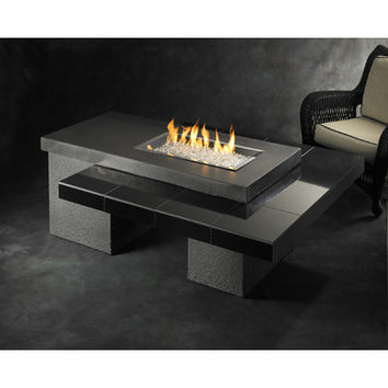 The Outdoor GreatRoom Company Uptown Crystal Fire Pit Table with Tile Top and Burner & Reviews | Wayfair