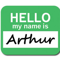 Arthur Hello My Name Is Mouse Pad