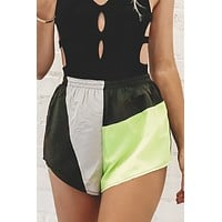 That's So 80's Color Block Shorts