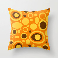 18x18 Mod Orange Pillow,Fun Pillow, Mod Pillow,Funky Pillow,Modern Pillow,Retro Pillow,Mod Cushion,Funky Cushion,Fun Cushion