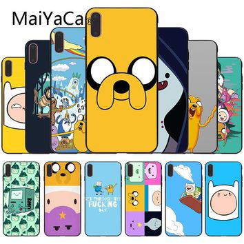 MaiYaCa Adventure Time Colorful Cute Phone Accessories Case For iphone X 8 8plus Black Case cover And 7 7plus 6 6s