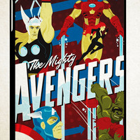 avengers ART Y0464 iPad 2 3 4, iPad Mini 1 2 3, iPad Air 1 2 , Galaxy Tab 1 2 3, Galaxy Note 8.0 Cases