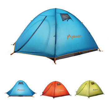 Outdoor Double Layer Camping Tent Family Tent 3 Person Beach Garden Picnic Fishing HIking Travel Use