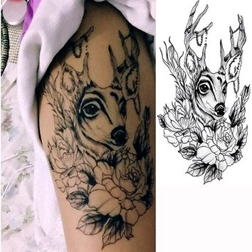 3Pcs Transferable One-Time Tattoos Sleeve 2017 New Design Waterproof Temporary Tattoo Body Art Cool Temporary Tattoos Stencils