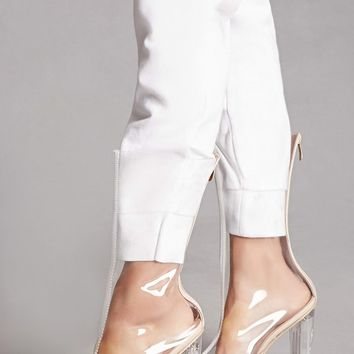 Tall Clear Lucite Heel Boots