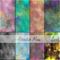 Scrapbooking - Digital Scrap Paper Pack - Paradise Moss -8  Papers 12 x 12 ~ purchasing this item discont on the scrap service