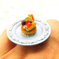 Fruit Tart Ring by SouZouCreations on Etsy