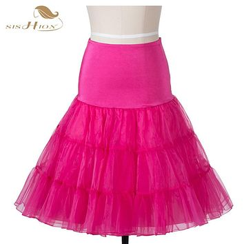 Tulle Skirt Sishion 2017 Fashion Candy Colors Petticoat Swing Vintage Rockabilly Ball Gown Tutu Skirt faldas Skirts Womens VD134