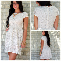 Tea Party Ivory Lace Dress