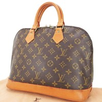 Authentic LOUIS VUITTON Alma Monogram Hand Bag Purse #28171