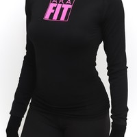 FIT AKA Warm-Up turtleneck, black