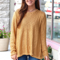 Split Me Back Lace Up Knit Sweater {Camel}