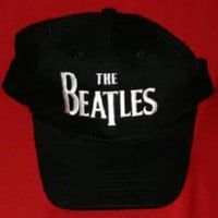 The Beatles Hat Letters Logo Black Size Large XL