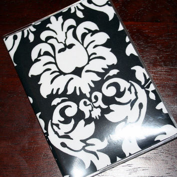 Passport Cover / Holder / Case - Dandy Damask Black