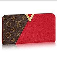 Tagre™ LOUIS VUITTON LEATHER PURSE CLUTCH KIMONO WALLET BAGS