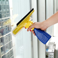 Home & Living 3 in 1 Door Window Glass Cleaner Squeegee with Mist Spray Household Helper (Color: Blue) = 1841489156