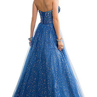 Strapless Sequin Embellished Ball Gown