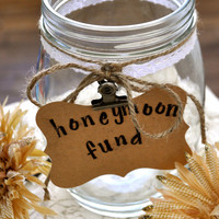 Rustic Chic Wedding Honeymoon Fund Jar