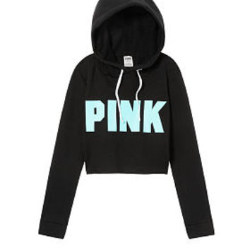 Cropped Cutoff Pullover - PINK - Victoria's Secret