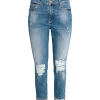 Boyfriend Slim Low Jeans - from H&M