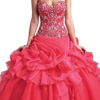 Angel Bride Quinceanera Dresses Sweetheart Long Ruffles Birthday Party Gowns