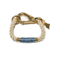 The ROPES | Natural and Blue Camden Rope Bracelet