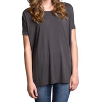 Dark Gray Piko Short Sleeve Top