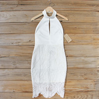 Ancient Lace Dress in White