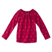 Cherokee® Infant Toddler Girls' Long-sleeve Glitter Dot Tee -