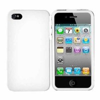 For Apple iPhone 4 Rubberized Hard Case Cover WHITE