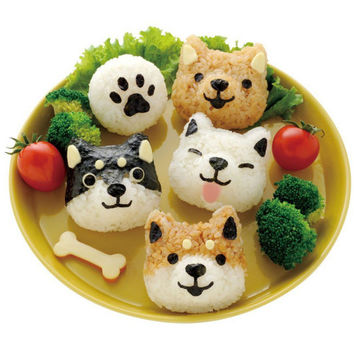 Dog Faces Bento Lunchbox Art Set