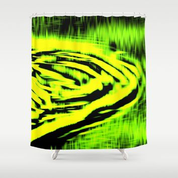 Electric Water - Lemon Lime Shower Curtain by Moonshine Paradise