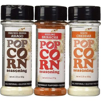 Urban Accents All Natural Gluten Free Premium Popcorn Seasoning Variety Pack