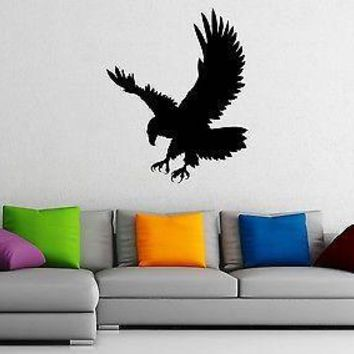 Wall Stickers Vinyl Decal Eagle Predator Bird Nature Animal Unique Gift z1020