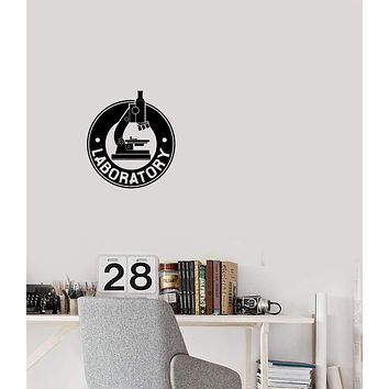 Vinyl Decal Decor Laboratory Microscope Science Office Wall Sticker Mural Unique Gift (g134)