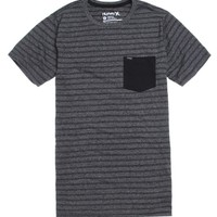 Hurley Oscar Mock Stripe T-Shirt - Mens Tee - Black