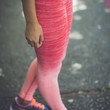 Ombre Workout Leggings in Peach