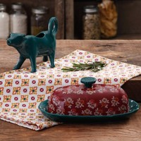 The Pioneer Woman Fall Flowers Butter Dish and Cow Creamer - Walmart.com