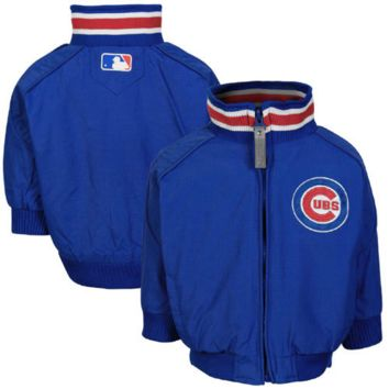Majestic Chicago Cubs Toddler Authentic Jacket - Royal Blue - http://www.shareasale.com/m-pr.cfm?merchantID=7124&userID=1042934&productID=555864411 / Chicago Cubs