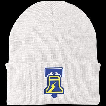 Retro The Philadelphia Bell Inspired Embroidered Knit Cap