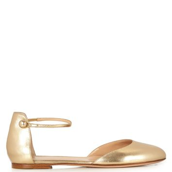 Ankle-strap leather flats | Gianvito Rossi | MATCHESFASHION.COM US