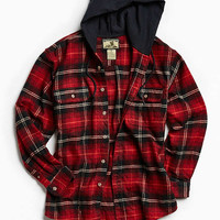 Vintage Heavyweight Hooded Flannel Button-Down Shirt | Urban Outfitters