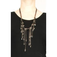 Rimini Leather Tiered Necklace
