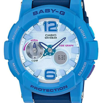 Casio Ladies Baby-G - Analog/Digital - Tide Graph Feature - Blue Case & Strap
