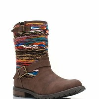 yarn-inset-boots BLACK BROWN TAN - GoJane.com