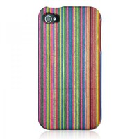 Rainbow Wood Case for iPhone 4 / 4S