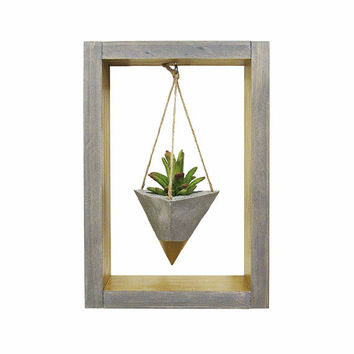 Air Planter, Wall Planter, Succulent Planter, Concrete Planter, Modern Planter, Hanging Planter, Mini Gold Planter, Shadow Box, Gift for Her