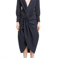 Jacquemus Ruched Long Sleeve Dress   Nordstrom